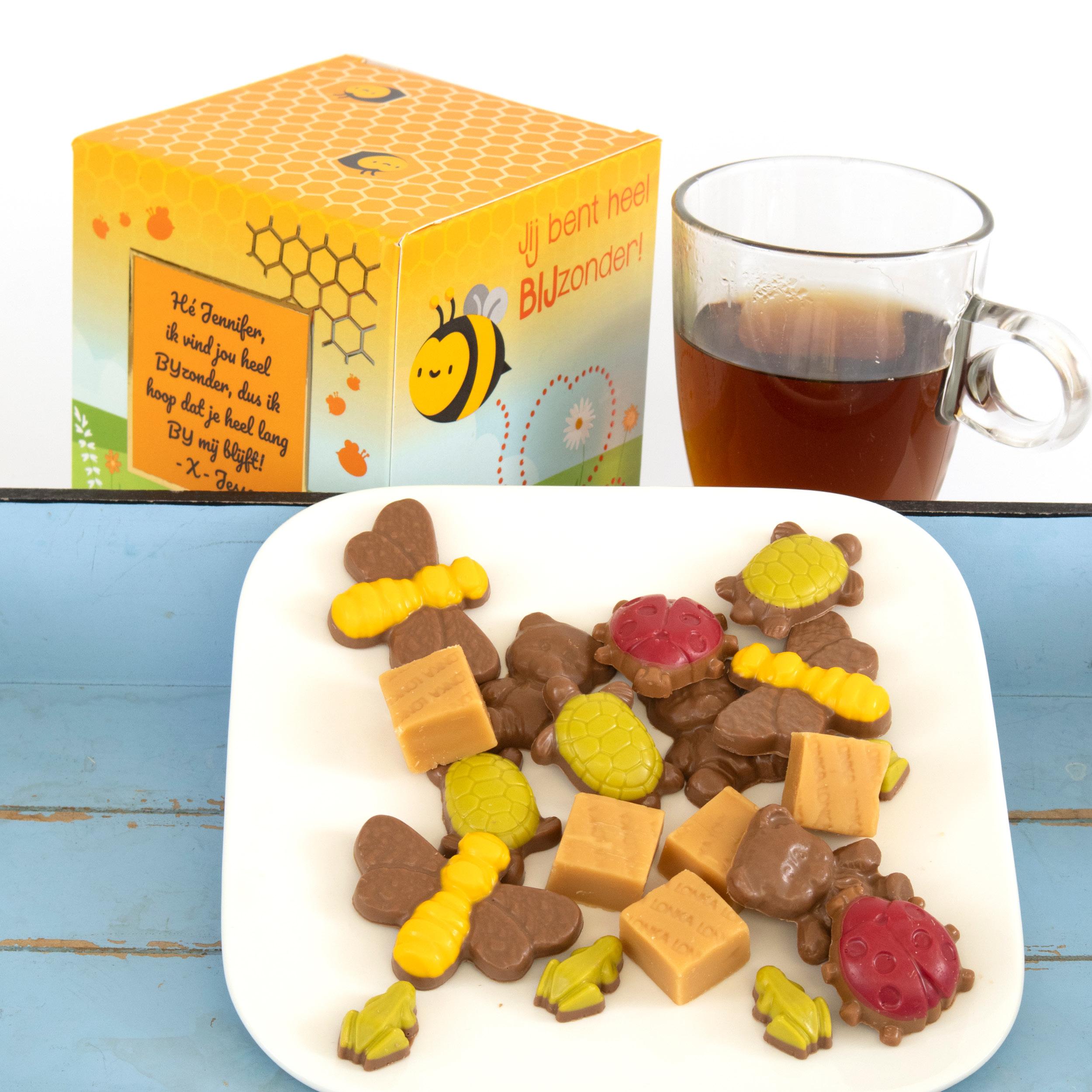 Is jouw vader een snoepkont? Geef hem dan onze heerlijke chocolade in één van onze BonBoxen.